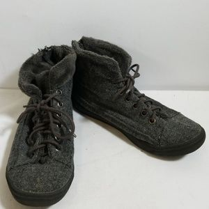Blowfish Gray Lace Up Ankle Boots Size 7.5